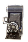 Old vintage photo camera. Isolated Stock Image
