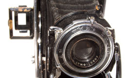 Old vintage photo camera. Isolated Royalty Free Stock Photography