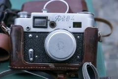 Camera FED-4. Old vintage photo camera FED-4 stock photos