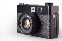 Old vintage photo camera, isolated on white Stock Photography