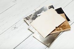 Old vintage photo frame, film paper blank stock photo