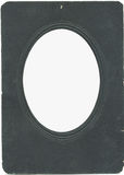 Old vintage photoframe with oval vignette Stock Photos