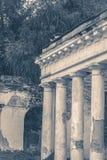 Old vintage photos. Oid Ruins column park Stock Image