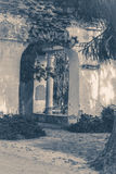 Old vintage photos. Oid Ruins column park Royalty Free Stock Image