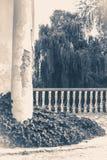 Old vintage photos. Oid Ruins column park Royalty Free Stock Photos