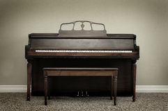 Old Vintage Piano in Home royalty free stock photography