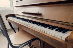 Old vintage piano keyboard. Art Royalty Free Stock Images