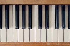 Old vintage piano keyboard Stock Photography