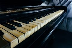 Old vintage piano keyboard royalty free stock image