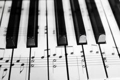 Old Vintage Piano Keys Ebony Ivory Black White Royalty Free Stock Image
