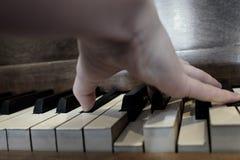 Old Vintage Piano Keys Ebony Ivory Black White Stock Images