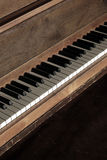 Old Vintage Piano with Keys for Music Stock Photography