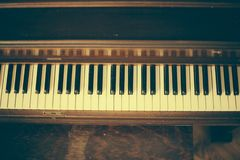 Old Vintage Piano Keys Wood Royalty Free Stock Photography