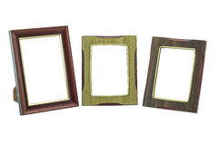 Old/vintage picture frame on isolated white background Stock Photography