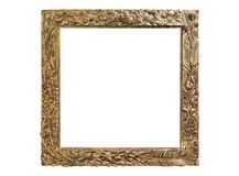 Old vintage picture frames. Isolated on white Stock Photography