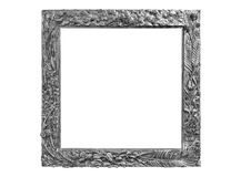 Old vintage picture frames. Isolated on white Royalty Free Stock Photography