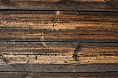 Old vintage planked wood board Stock Photo