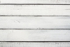 Old vintage planked wood painted white - background Royalty Free Stock Photography