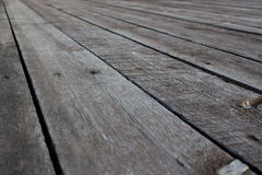 Old vintage planked wood table Stock Image