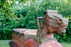 Old Vintage Playground Rocking-Horse royalty free stock images