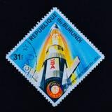 Old vintage postage stamp, space Royalty Free Stock Image