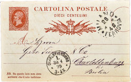 Old vintage postcard  from Italy VI Royalty Free Stock Photo