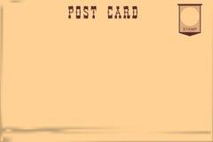 Old vintage postcard royalty free illustration