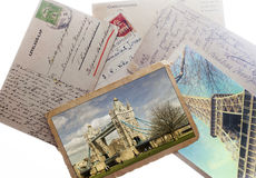 Old vintage postcards Royalty Free Stock Photography