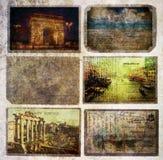 Old vintage postcards Stock Image