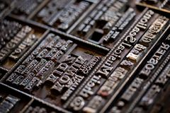 Old Vintage Printing Press For Newspaper Letters Books Royalty Free Stock Image