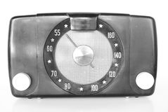 Old Vintage Radio. Black and white Vintage radio with a dial Royalty Free Stock Photo