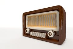 Old Vintage Radio. 3D computer made the old Vintage Radio on a white background Royalty Free Stock Image