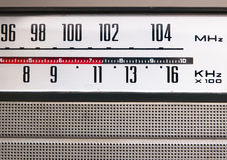 Old vintage radio detail Stock Photo