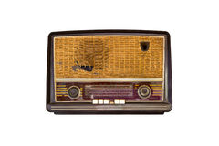 Old vintage radio isolated Royalty Free Stock Photo