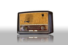 Old vintage radio isolated Royalty Free Stock Photos