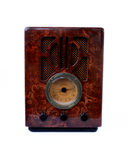 Vintage radio. Old vintage radio with a isolated background Royalty Free Stock Photography