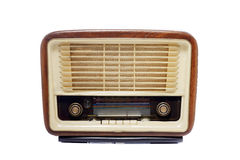 Old Vintage Radio. Isolated over white background Royalty Free Stock Photos