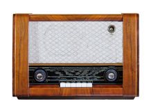 Old vintage radio. From the 1950s isolated over white Stock Photo