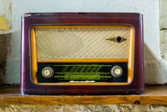 Old Vintage Radio. Toned in sepia Royalty Free Stock Photos