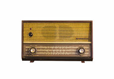Old vintage radio on white Royalty Free Stock Images