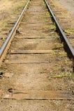 Old vintage rails. Photo of the old vintage rails Stock Photo