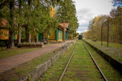 Free Old Vintage Railway Station With Train In Poland, Bialowieza, Royalty Free Stock Photo - 77566175