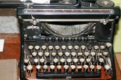 Old vintage rarity printing machine. Typing black. stock image