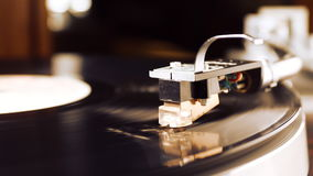 Old vintage record vinyl player. stock footage