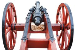 Free Old Vintage Red Gunpowder Post-medieval Artillery Cannon Stock Images - 148080044