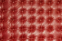 Old vintage red leather chair Stock Photos