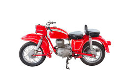 Old vintage red motorcycle Stock Photo