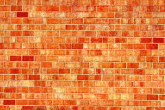 Old vintage Red orange brick wall texture background Stock Photography