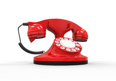 Old Vintage Red Telephone Stock Image