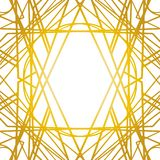 Old vintage retro frames with lines. Style of 1920-s. Royal golden premium decor stock illustration